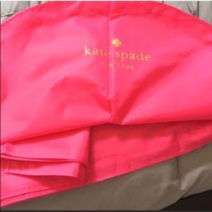PINK KATE SPADE GARMENT BAG